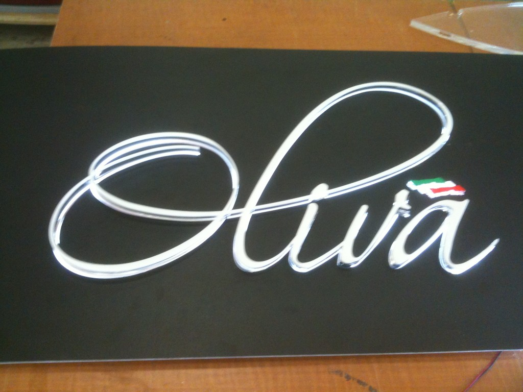The Oliva Signature LED bar counter