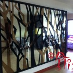Wall deco with mirror acrylic inlays