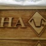 Solid wood logo deep laser engraving