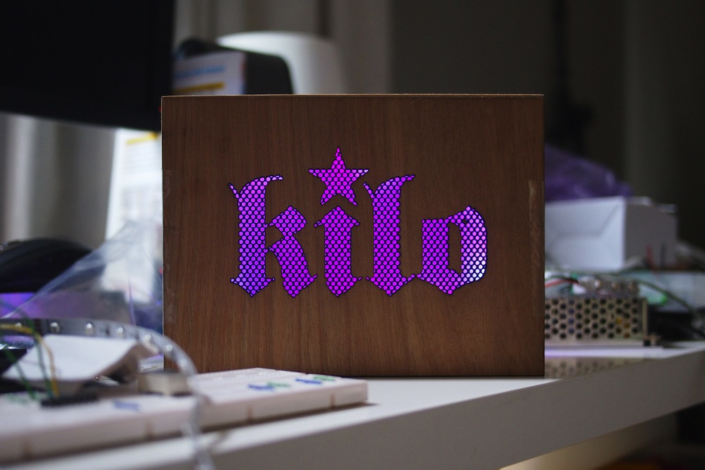 Laser cut intricate logo in front panel of Audio system